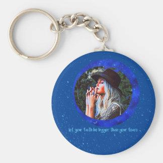 Faith Basic Round Button Key Ring