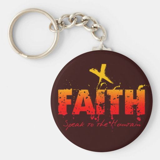 FAITH BASIC ROUND BUTTON KEY RING