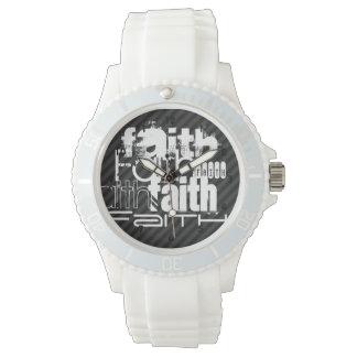 Faith; Black & Dark Gray Stripes Watches
