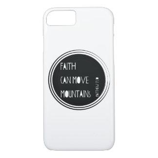 """""""Faith can move mountains"""" Bible verse iPhone 8/7 Case"""