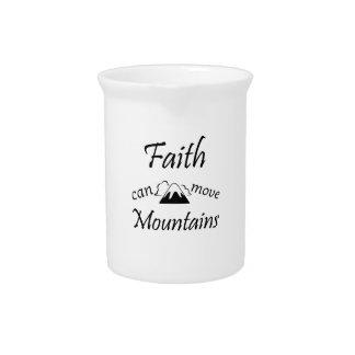 Faith Can Move Mountains Pitcher