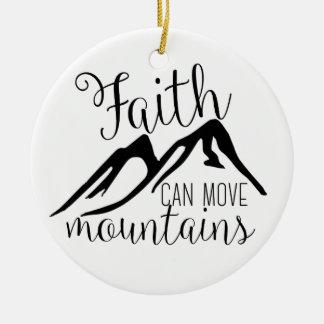 faith can move mountains round ceramic decoration