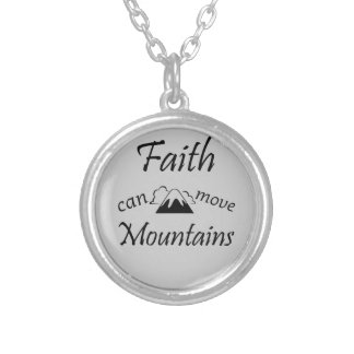 Faith Can Move Mountains Silver Plated Necklace