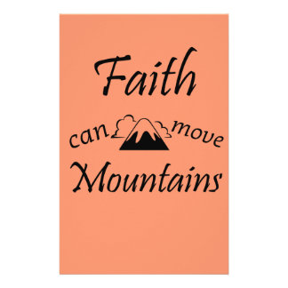 Faith Can Move Mountains Stationery