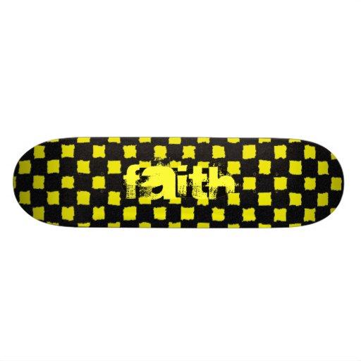FAITH checker skateboard