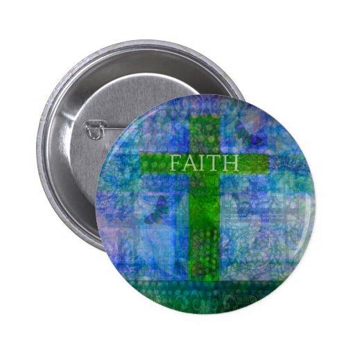 FAITH CROSS Meaningful Art Pin