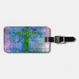 FAITH CROSS Meaningful Art Travel Bag Tag