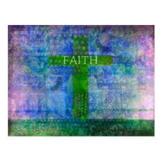 FAITH CROSS Meaningful Art Postcard