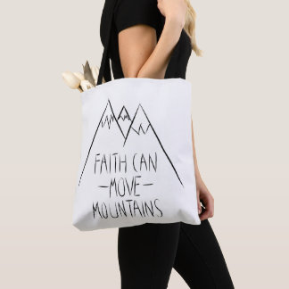 faith dog move mountains tote bag