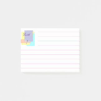 Faith dragonfly post-it notes