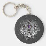Faith Family Prayer Cross - Alzheimer's Disease Basic Round Button Key Ring