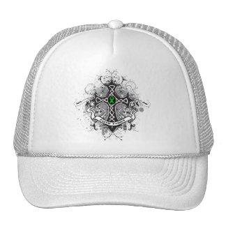Faith Family Prayer Cross (Green)  - Kidney Cancer Mesh Hat