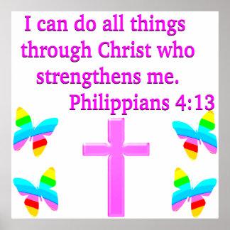 FAITH FILLED PHILIPPIANS 4:13 DESIGN POSTER