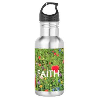 Faith Flowers Custom Water BottleStainless Steel 532 Ml Water Bottle