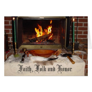 Faith, Folk and Honor Card