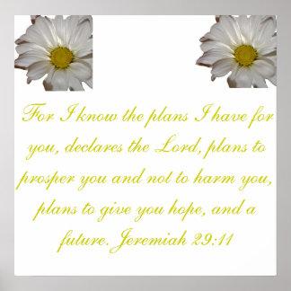 Faith Future Bible Scripture Poster