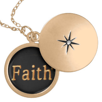 Faith Gold Plated Necklace