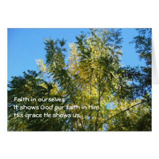 Faith Haiku/Trees On Card