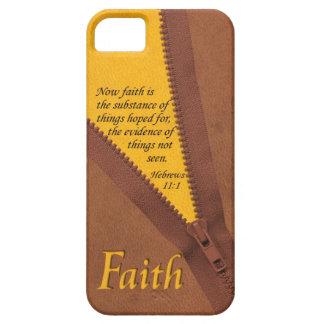 FAITH Hebrews 11:1 Bible Verse Yellow/Brown Zipper iPhone 5 Cases