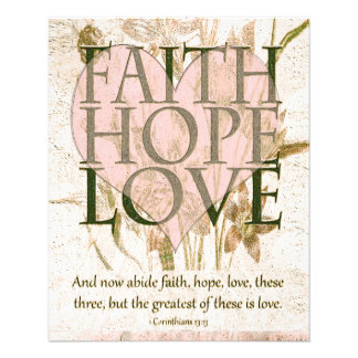 Faith, Hope and Love 11.5 Cm X 14 Cm Flyer