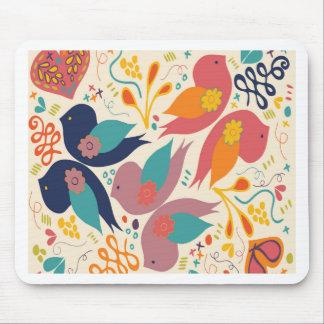 Faith Hope and Love Bird Print Mouse Pad