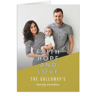 FAITH, HOPE AND LOVE CARD