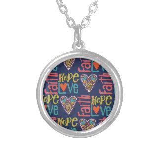 Faith Hope and Love Word Art Jewelry