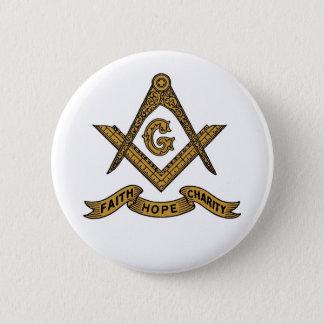 Faith Hope Charity Masonic emblem button