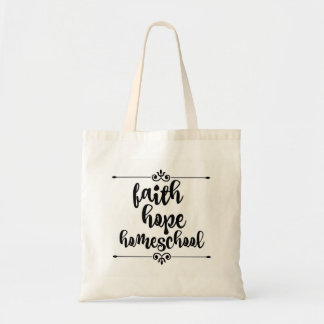 Faith Hope Homeschool Tote