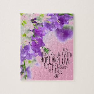 Faith Hope Love 1 Corinthians 13:13 Jigsaw Puzzle