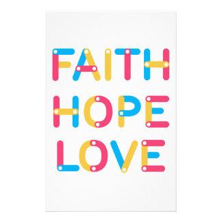 faith hope love 2 stationery