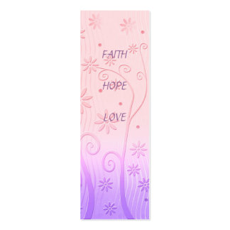 Faith Hope Love - Bookmark Pack Of Skinny Business Cards