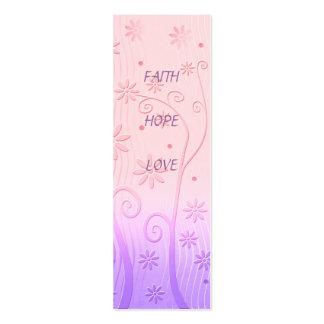Faith Hope Love - Bookmark Business Card Templates