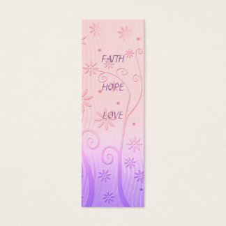 Faith Hope Love - Bookmark Mini Business Card