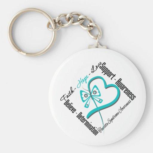 Faith Hope Love Butterfly Tourette Syndrome Key Chain