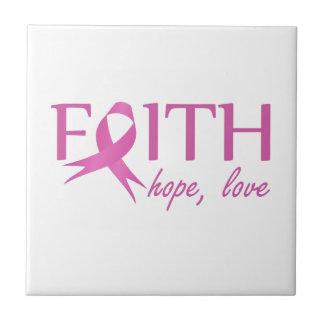 Faith,hope, love ceramic tile