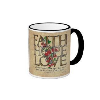 Faith Hope Love Christian Bible Verse Coffee Mug