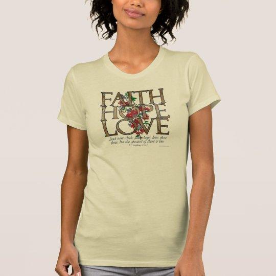 Faith Hope Love Christian Bible Verse T-Shirt