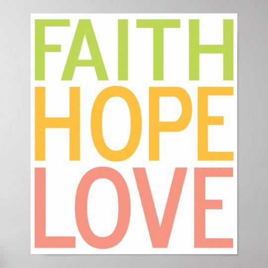Faith Hope Love Christian Inspirational Poster Art