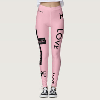 Faith Hope & Love Cross Leggings Workout Gear