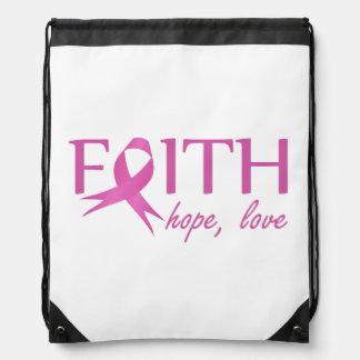 Faith,hope, love drawstring bag