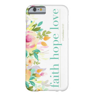 Faith Hope Love | Floral iPhone 6/6s Phone Case