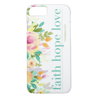 Faith Hope Love | Floral iPhone 7 Phone Case