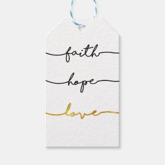 Faith Hope Love Gift Tags
