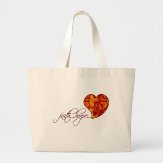 Faith Hope Love Heart 1 Corinthians 13:13 Large Tote Bag