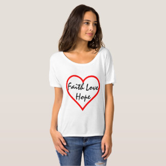 Faith Hope Love Heart T-shirt
