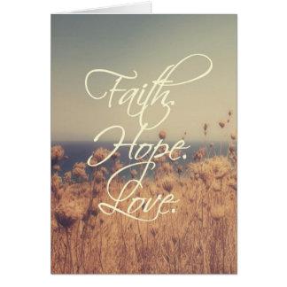 Faith. Hope. Love. Note Card