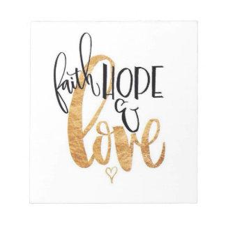 Faith,Hope & Love Notebook Notepad