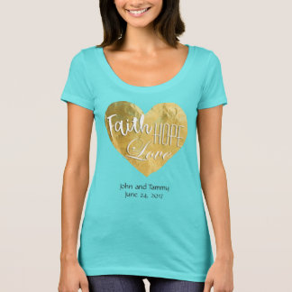 Faith Hope Love Personalized Bride T-Shirts