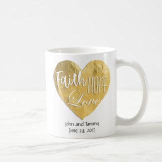Faith Hope Love Personalized Wedding 11 oz. Coffee Mug